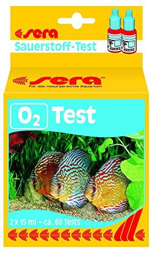 Sera 04914 O2-Test 15 ml - Sauerstoff Test für ca. 60 Tests, misst zuverlässig und genau den O2-Gehalt im Süßwasser fürs Aquarium oder den Teich (Sauerstoff-tank)
