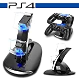 PS4 Dual Controller Caricatore, Likorlove Dual USB Charging Dock, caricabatteria Docking Station Stand per Playstation 4 PS4 / PS4 Pro / PS4 Slim Wireless Controller