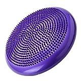 Bigherdez Universal Home Balance Disc PVC-Balance-Yoga-Bälle Tragbare Massage-Pad Massagekissen Fitness-Trainingsball - Lila