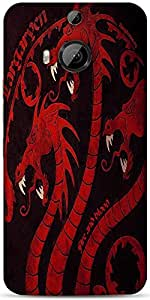 Snoogg Dragon Game 2484 Designer Protective Back Case Cover For Htc One M9 Pl...