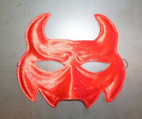 Pack of 12 Red Velvet Feel Monster Eye Masks - Halloween/ Fancy Dress (HW240) (Fancy Dress Monster)