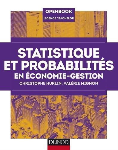 Statistique et probabilits en conomie-gestion de Christophe Hurlin (20 mai 2015) Broch