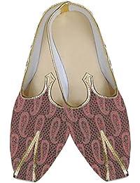 INMONARCH Hombres Rosa Boda India Zapatos MJ0091
