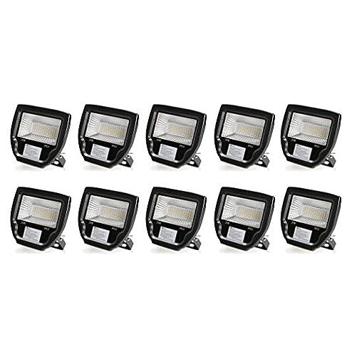 10×Anten Projecteurs LED 30W Spot Floodlight Lampe LED Étanche IP65 pour Éclairage Extérieur et Intérieur Luminaire Spot Imperméable de Haute Luminosité et de Basse Consommation (Blanc neutre)