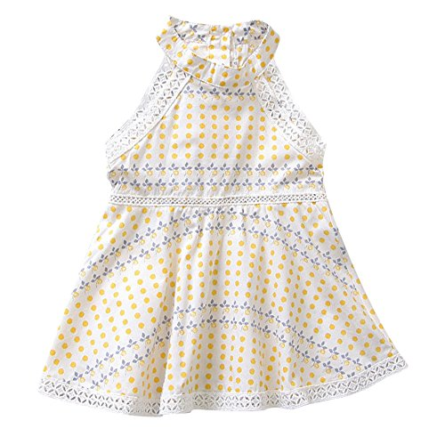 Allouli Toddler Girls' Sleeveless Casual Dress