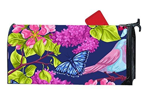 Bead Baby Henna Mehndi Floral Postfächer Cover rostfrei Briefkasten Umfasst die Große Kapazität Post Mund für Buchstabe One Size Vivid Flower8