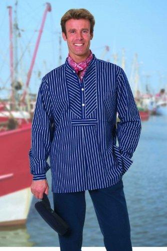 Modas Finkenwerder Fischerhemd BasicLine breit gestreift, - Fischer Kostüm