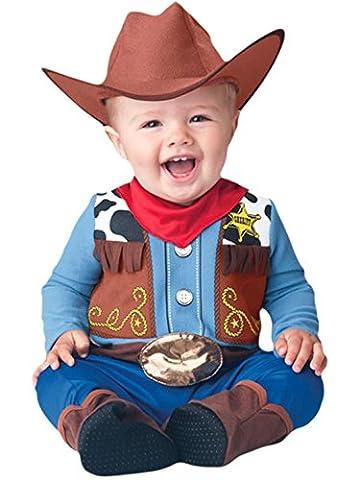 erdbeerloft - Unisex - Baby Karneval Komplett Kostüm Baby Cowboy , Mehrfarbig, Größe 80-, 1- Jahre
