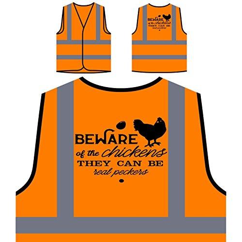 ühnern, Die Sie Schwarz Haben Personalisierte High Visibility Orange Sicherheitsjacke Weste t492vo (Huhn-hüte)