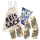 Reishunger Fitness Beutel (8-teilig, 200g/50/10g) Verschiedene Reis- und Bio-Produkte im praktischen Turnbeutel - Perfekt als Geschenk für Sportler