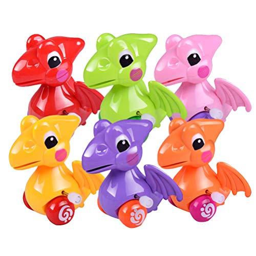 Toyvian Aufziehspielzeug Aufziehtiere Mini Dinosaurier Spielzeug Badetiere Badespielzeug Wind Up Figur für Baby Kinder 6 Stücke (Mischfarbe)