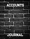 Accounts Journal: Financial Accounting Journal Entries,Bookkeeping log ledger,Bookkeeping Ledger Book,Ledger Receipt Book,Credit & Debit Paper Book (account book, Band 2)