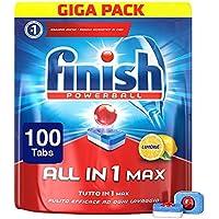 Finish All in 1 Max Pastiglie Lavastoviglie, Regular, 100 Tabs