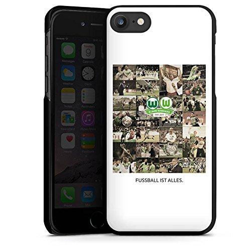 Apple iPhone X Silikon Hülle Case Schutzhülle Vfl Wolfsburg Bundesliga Fußball Hard Case schwarz