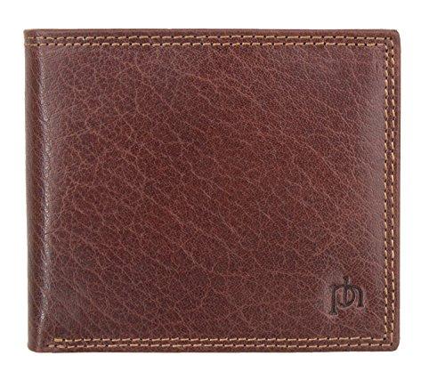 RFID Safe Herren Luxus Leder Bifold Wallet von Prime Hide aus der Prato Serie, braun (Braun) - 4155-Brown - 4155 Serie
