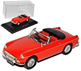 MG B Roadster Convertible Rot 1964 1/43 Solido Modell Auto