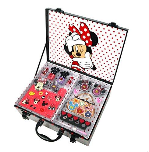 Disney Minnie Mouse Make Up-Koffer (umfangreiches Schmink-Set mit Produkten für Augen, Lippen, Nägel; inkl. Pinsel, Schmuck, Tattoos und Glitzer) (Nagel-sets Für Teenager)