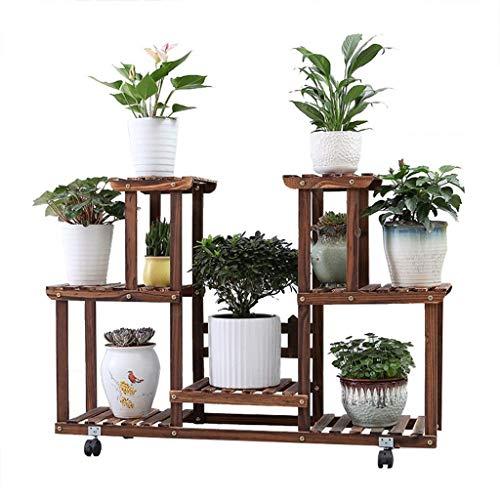 Ooop Multi-Layer-Massivholz-Standsystem Großzügige Art und Weise Einfacher Blume Design Spart Platz und Wohnzimmer im Freien Balkon Terrasse Garten - Terrasse Garten Schatz