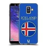 Head Case Designs Isländische Fahne Fahnen Flicken Soft Gel Hülle für Samsung Galaxy A6 (2018)