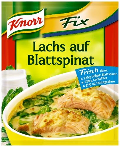 Knorr Fix für Lachs auf Blattspinat, 20er Pack (20 x 28 g Beutel)