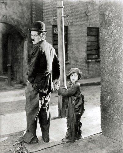 Von Canvas35Charlie Chaplin The Kid Film Kunstdruck gerahmt, Leinwand, Mehrfarbig, 127x 50x 4cm - Charlie Chaplin-film Poster