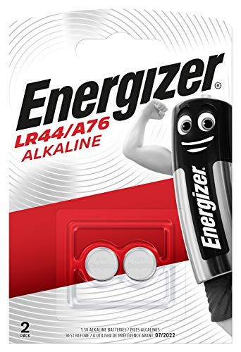 Energizer Alkali Knopfzelle LR44/A76, 2 Stück -