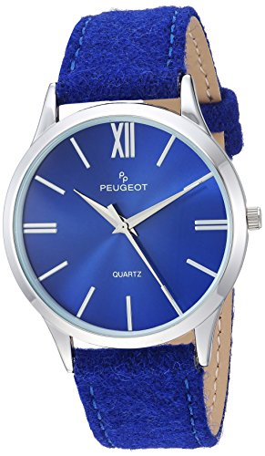 Peugeot Women's Analog-Quartz Watch with Canvas Strap 2058BL