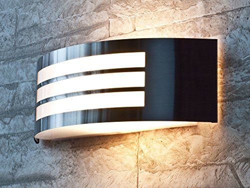 Applique Moderne Lampe Murale Extérieure Semi-Circulaire Luminaire De Jardin IP44 Acier Inox 2/1/826