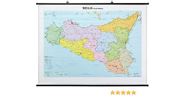 Cartina Geografica Sicilia Politica.Amazon It Sicilia Fisico Politica Libri
