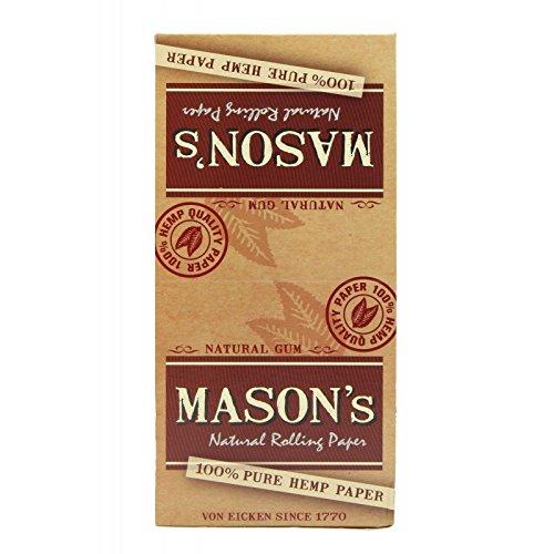 Mason's Mason 's–Natural Rolling Paper–Caja