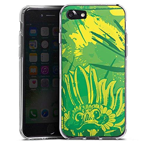 Apple iPhone X Silikon Hülle Case Schutzhülle Grün dschungel Art Silikon Case transparent