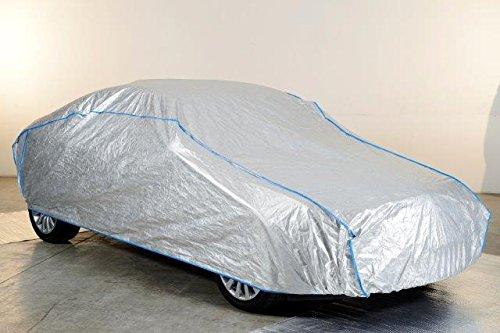 Kley & Partner Auto Abdeckung Vollgarage atmungsaktiv extrem leicht kompatibel mit FIAT 500 C TOPOLINO Silber in Exclusiv aus Tyvek incl. Lagerbeutel