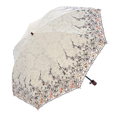 Honeystore Regenschirm, Blumen Taschenschirm Prinzessin Sonnnenschirm