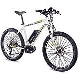 CHRISSON 27,5 Zoll E-Bike Mountainbike Bosch - E-Mounter 1.0 Weiss 52cm ? Elektrofahrrad, Pedelec für Damen und Herren mit Bosch Motor Performance Line 250W, 63Nm - Intuvia Computer und 4 Fahrmodi