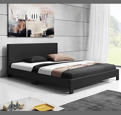 Muebles bonitos letti e mobili – letto di design luna in colore nero (160x200cm)