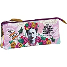 Frida Kahlo - Estuche portatodo triple (Safta 861646744)