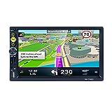 Mengonee 7' Doppio Stereo 2 DIN 1080P HD Video Radio auto GPS Specchio Link for Android iOS con RDS/AM/FM telecamera libera 8G Map