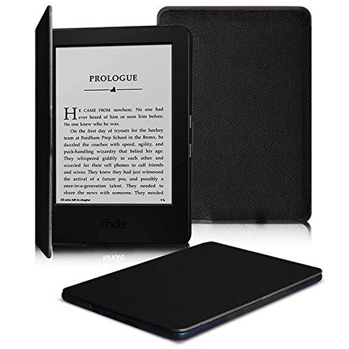Fintie SlimShell Funda para Kindle 7ª Generación – La Más Delgada y Ligera Case Cover Carcasa con Función de Auto-Reposo/Activación para Amazon Nuevo Kindle de 6 pulgadas Modelo de 2014, Negro