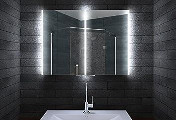 Perfekt Aluminium Badschrank Badezimmer Spiegelschrank Bad LED Beleuchtung 80 X 70  Cm MLA8700