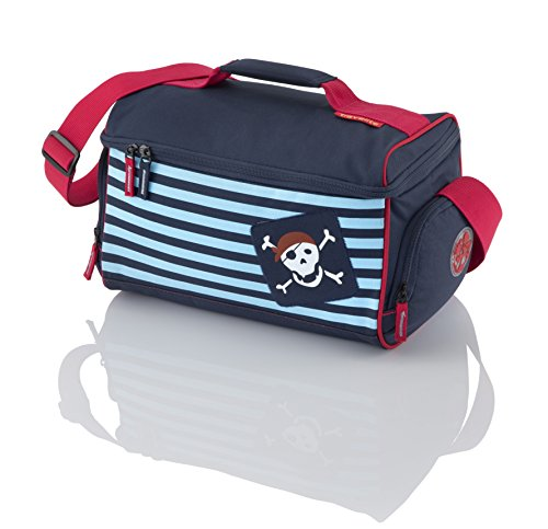 Travelite Kindertrolley 22 Liter & Boardtasche 14 Liter in verschiedenen Farben / Motiven (Kauz) Pirat