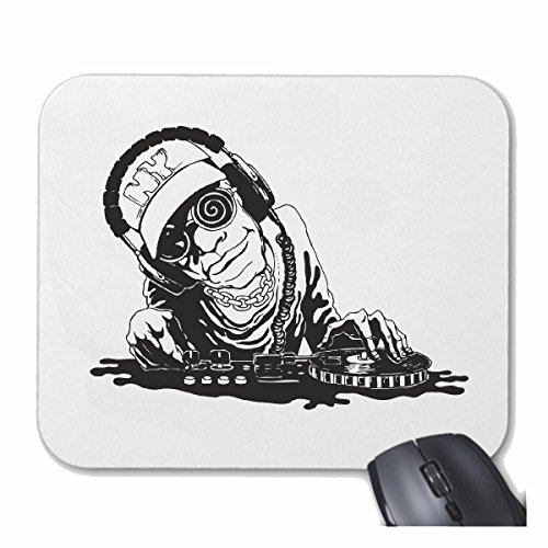 Mousepad (Mauspad) DJ ROCK MUSIK IS NO LIMIT SCHLAGZEUG SKULL GITARRE SONNENBRILLE TECHNO JAZZ FUNKY SOUL TRANCE FESTIVAL HOUSE HIPHOP HIP HOP DJ für ihren Laptop, Notebook oder Internet PC
