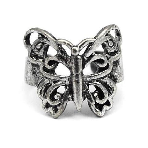 Elixir77UK Antique Silver Colour Butterfly Ear Cuff Clip On Wrap Helix Non Pierced Earring UK