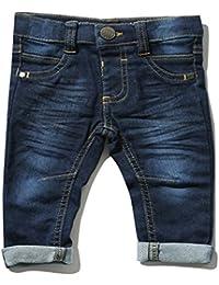M&Co Baby Boy Cotton Rich Mid Blue Wash Turn Up Five Pocket Design Super Soft Stretch Jeans