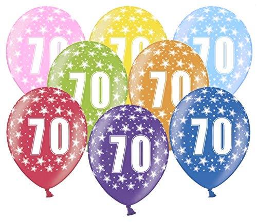 Libetui 10 kunterbunte Luftballons Metallic 30cm Deko zum 70. Geburtstag Party Happy Birthday Dekoration 70 Jahre (Dekorationen Für 70 Geburtstag Party)