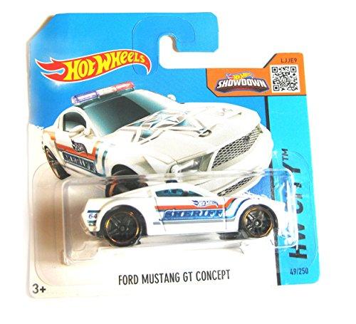 Preisvergleich Produktbild Hot Wheels Ford Mustang GT concept Sheriff weiß 49/250 1:64
