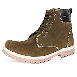 Escaro Mens Olive Lace Up Boots (ES4043BK_Olive_8)