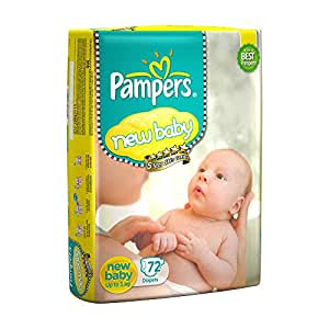 Pampers Active Baby New Born Diapers (72 Count)