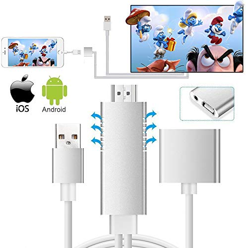 MHL Auf Hdmi Video Kabel Adapter, Weton Hd 1080p Video Digital AV Kabel Airplay HDTV Adapter MHL USB Kabel Kompatibel Für Alle Smartphones Zu TV/Projektor/Überwachen (Digital-tv-dongle)