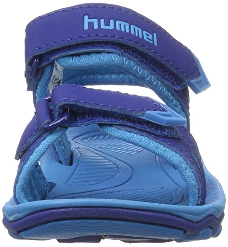Hummel Sport Jr, Sandales Bride Cheville Garçon Bleu (Limoges Blue)