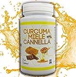 CURCUMA-MIELE-CANNELLA-120 CPR da 500 mg- Antibatterico-Antidolorifico-Termogenico-Brucia Grassi-Rimedio Naturale- Qualità Italiana